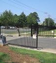 Arched Double Driveway Gates