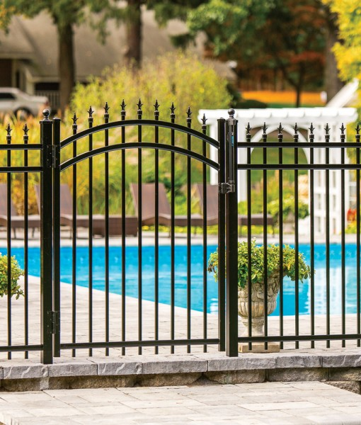 Alum Slate w arch gate and finials