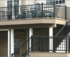 B.) Aluminum Railings