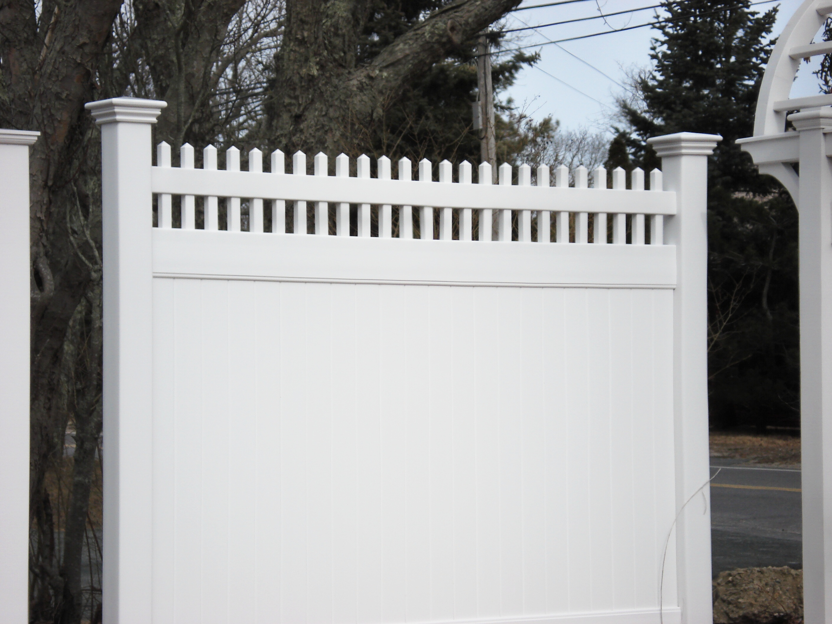 Moonstone Open Spindle Top Pvc Spaulding Fence Amp Supply