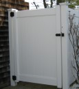 Dogwood Privacy Gate with hardware shower enclosure