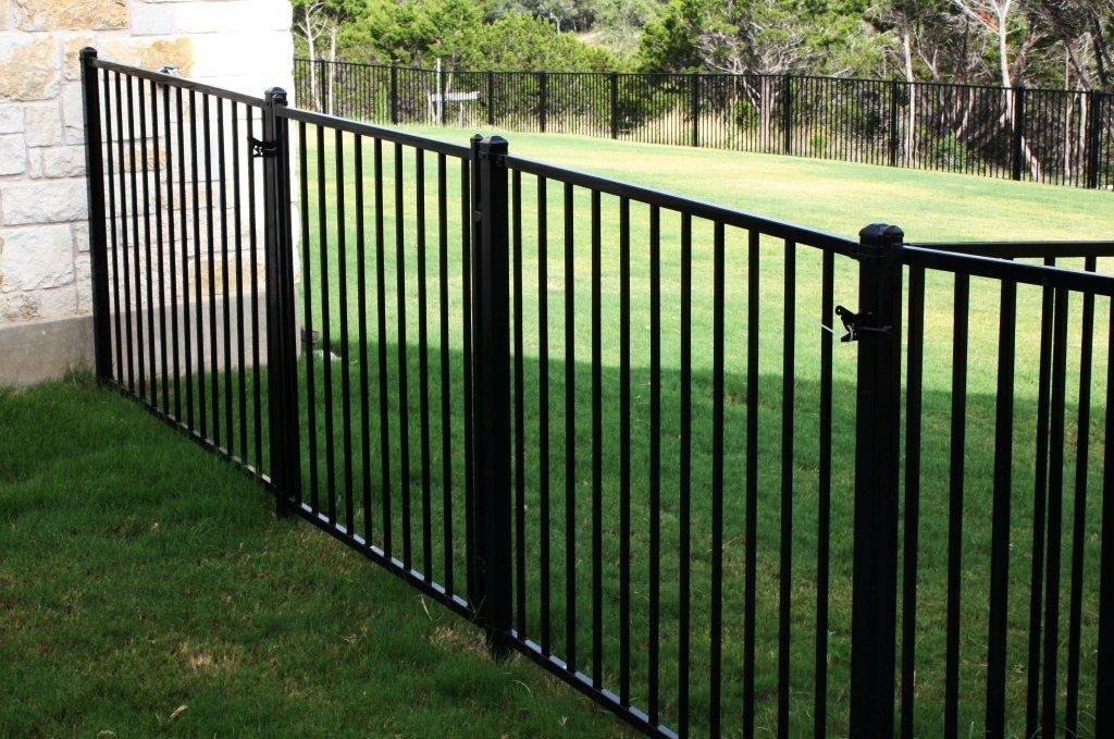 Versai 2/rail Flat Top Pool Panel Residential Steel