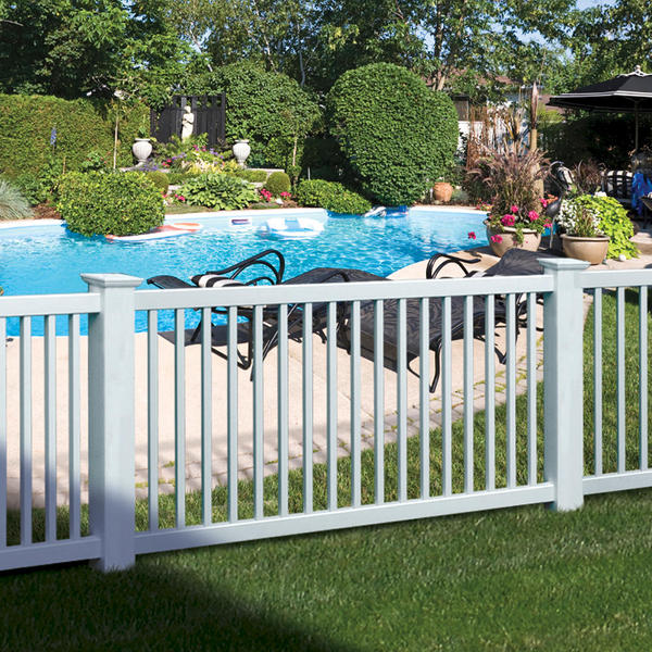 Hawthorne 2 Rail Pool Pvc Spaulding Fence Amp Supply