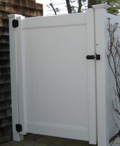 PVC Privacy Gate with hardware shower enclosure