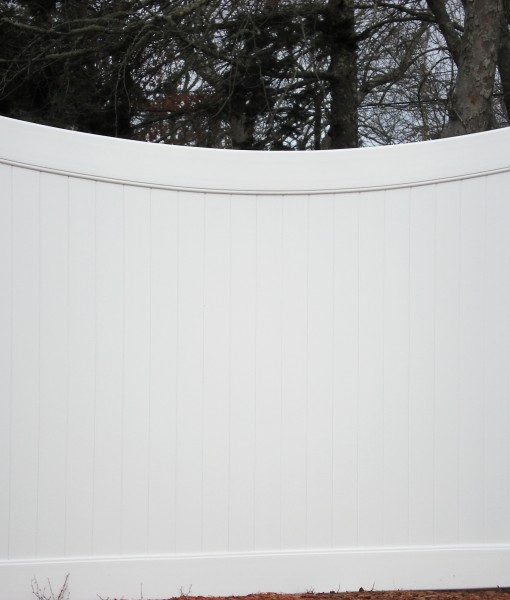 PVC Privacy Scallop Panel