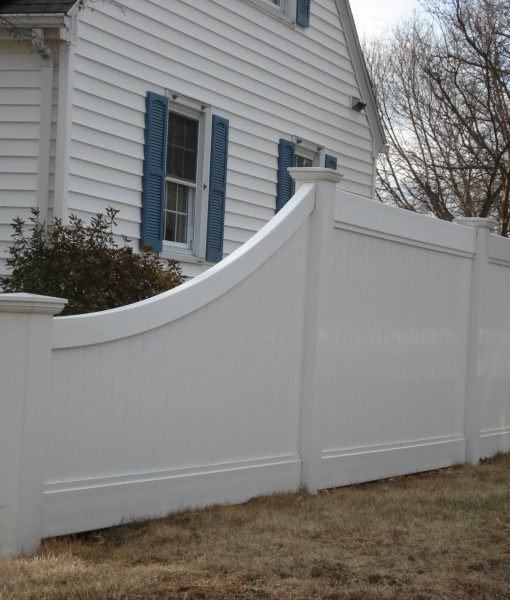 PVC Privacy Sweep with bent profile