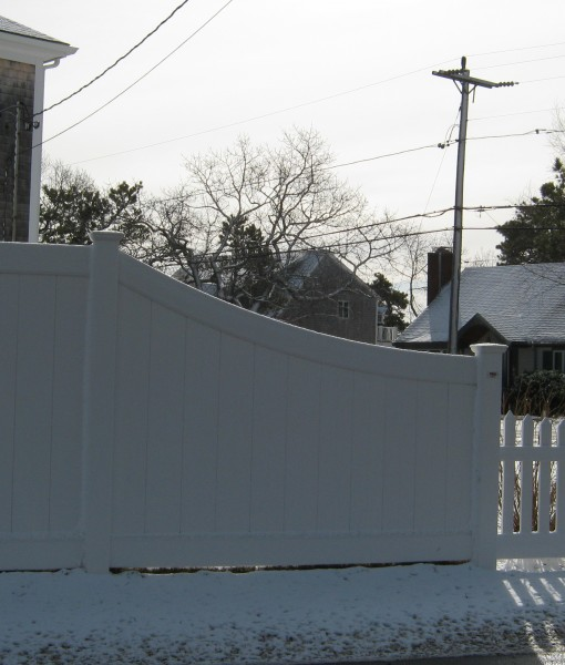 PVC Privacy with Bent Profile sweep