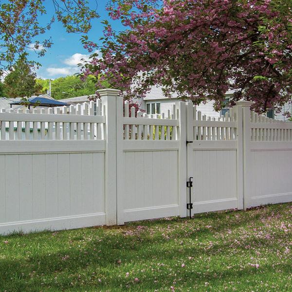 Aspen Scallop Open Spindle Top Pvc Spaulding Fence