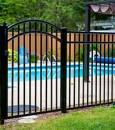 granitePool-side arched gate