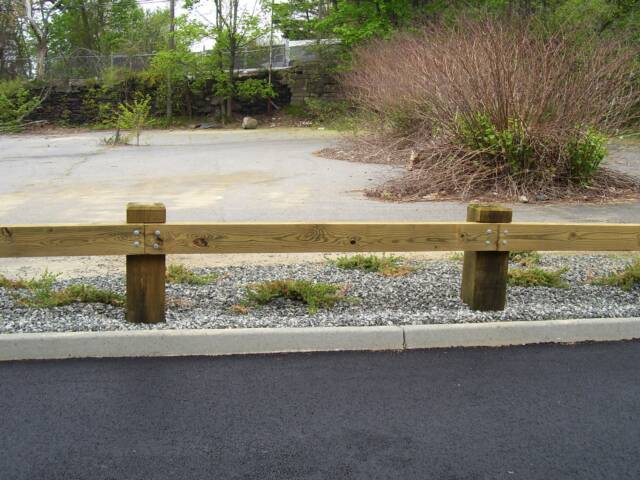 Wood guard rail product categories spaulding fence