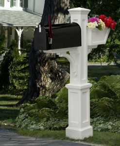 F.) PVC Mailbox Posts - Light Posts and Accessories