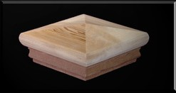 wood PyramidPostCap