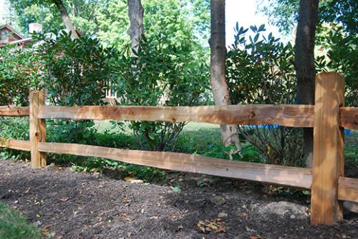 Western Red Cedar Split Rail Spaulding Fence Amp Supply