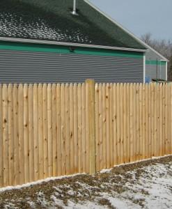 """A.) Cedar """"Stockade"""" Panels"""