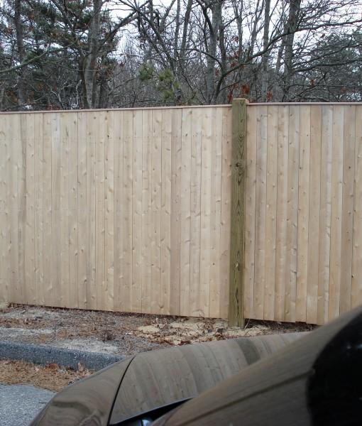 Cedar flat board with PT Post