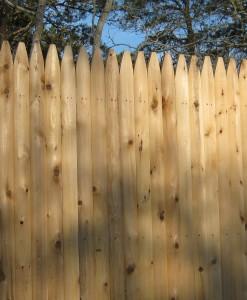 Cedar stockade close up