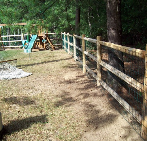 Round Doweled Cedar Post Amp Rail Spaulding Fence Amp Supply