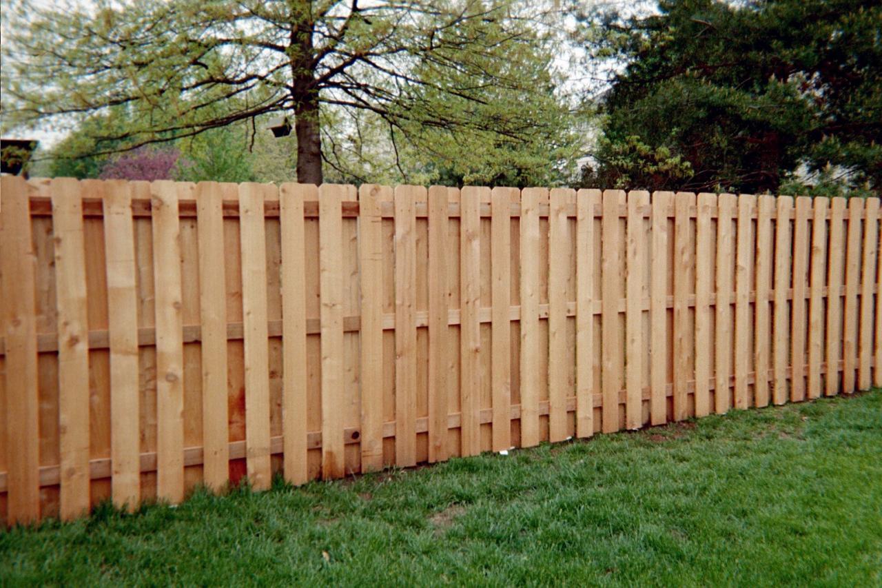 Dog Eared Shadow Box Fence
