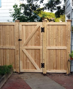 Solid Board Framed Walk Gate